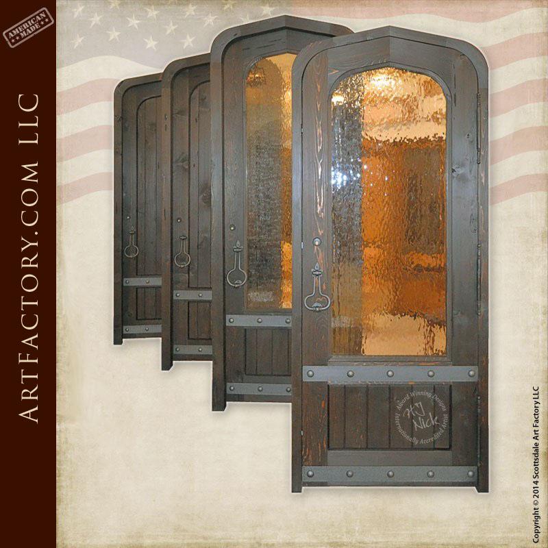 solid wood glass panel door