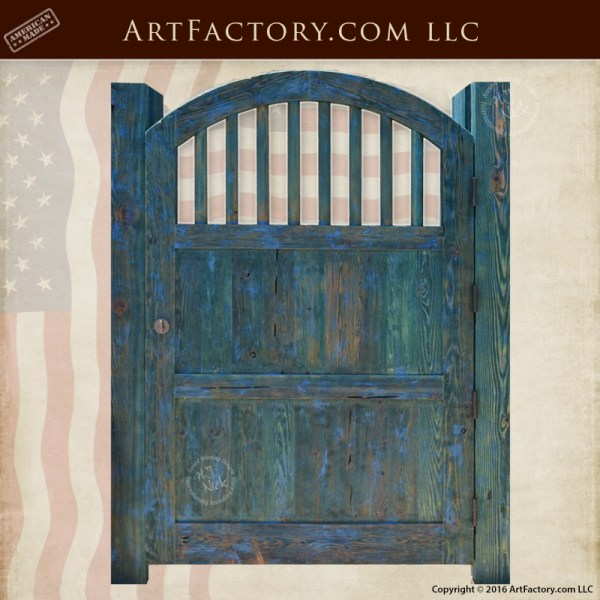 Arch Top Wood Gate