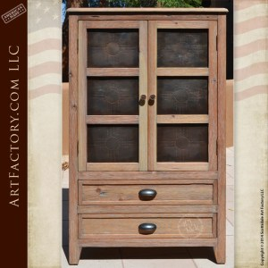 custom handmade display cabinet