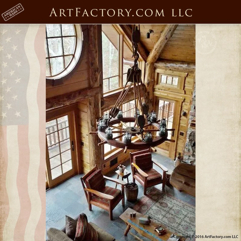 Nautical-Antique-Ships-Wheel-Chandelier