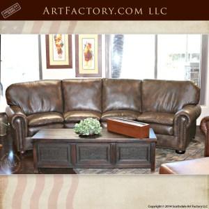 custom curved leather sofa
