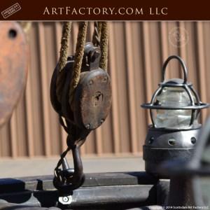 genuine ship wheel chandelier