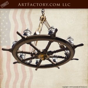 genuine ship wheel chandelier