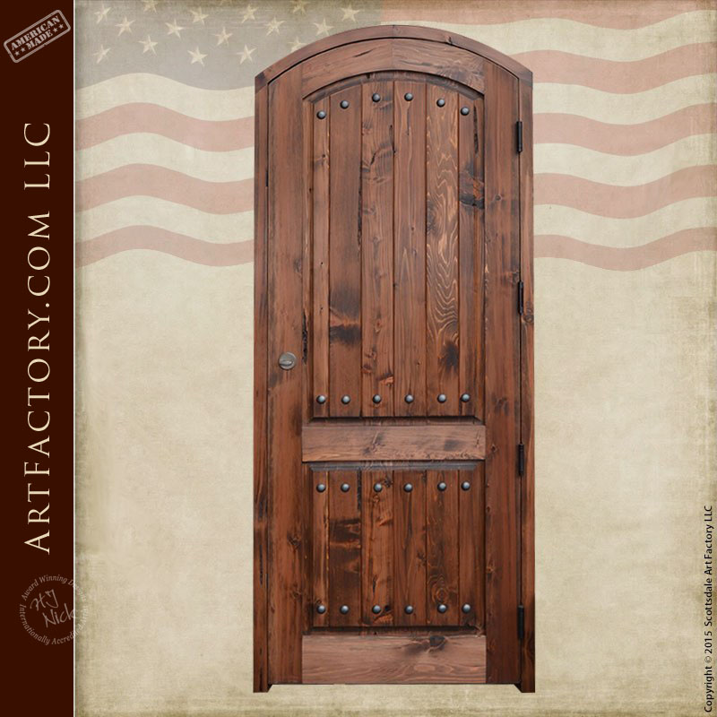 custom eyebrow arched front door