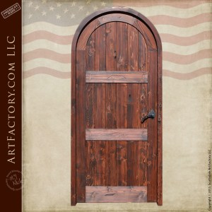 full arched wood panel door
