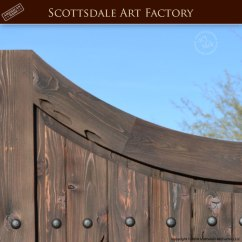 Kitchen Cabinet Knobs And Handles Knife Holder Double Inverted Arch Entrance Gate - Thick Custom Wood Gates