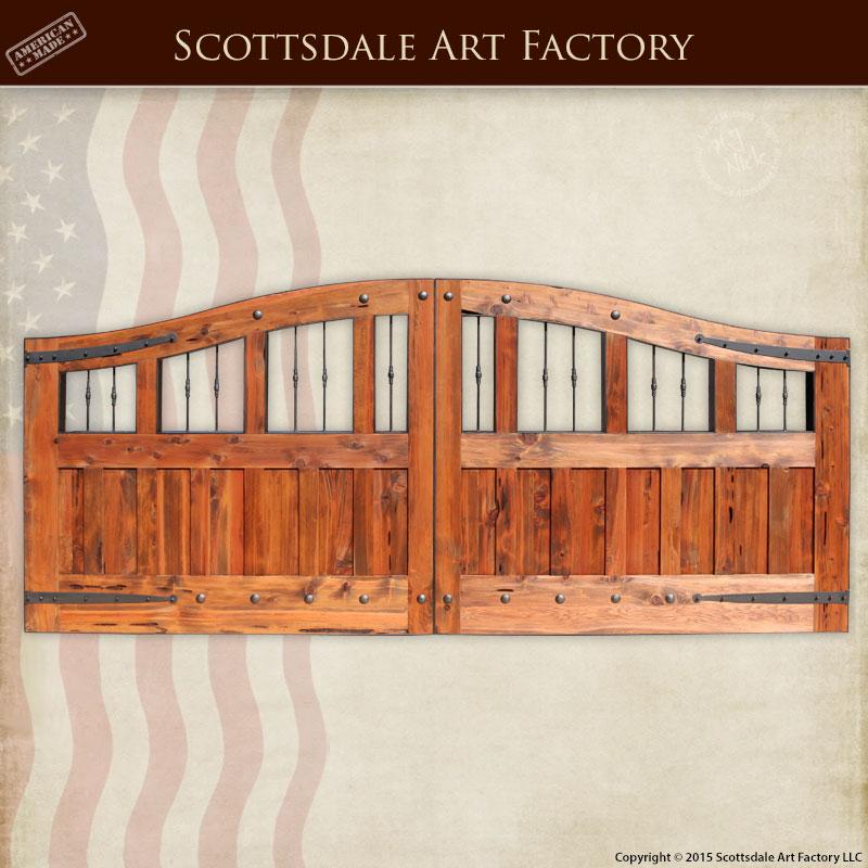 Custom Wooden Gate Bespoke Estate Gate