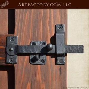 custom hand forged latch