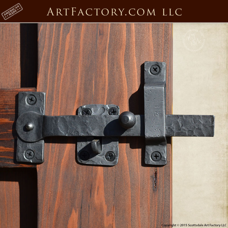 custom hand forged latch