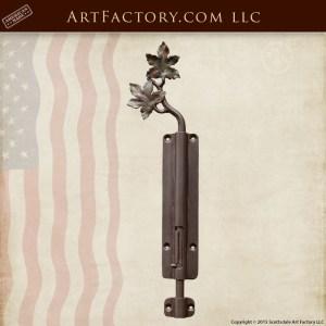 custom tree leaf slide bolt