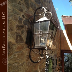 decorative iron wall sconce