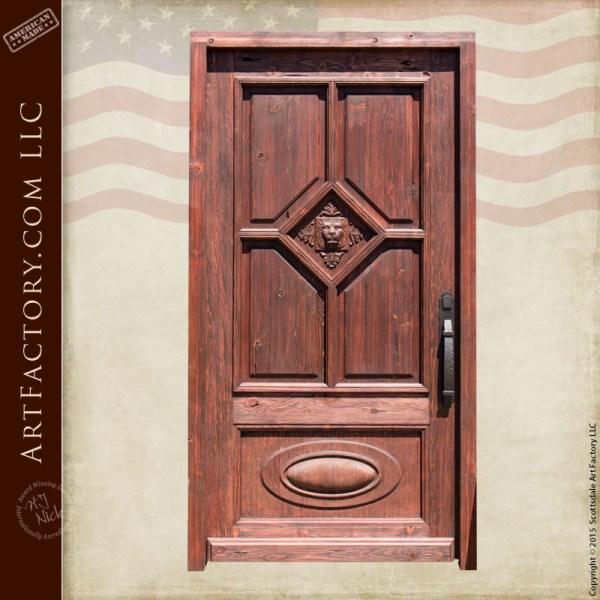 English Castle inspired door