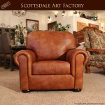 custom full grain leather chair