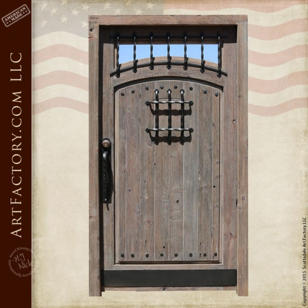 raised grain wood speakeasy door