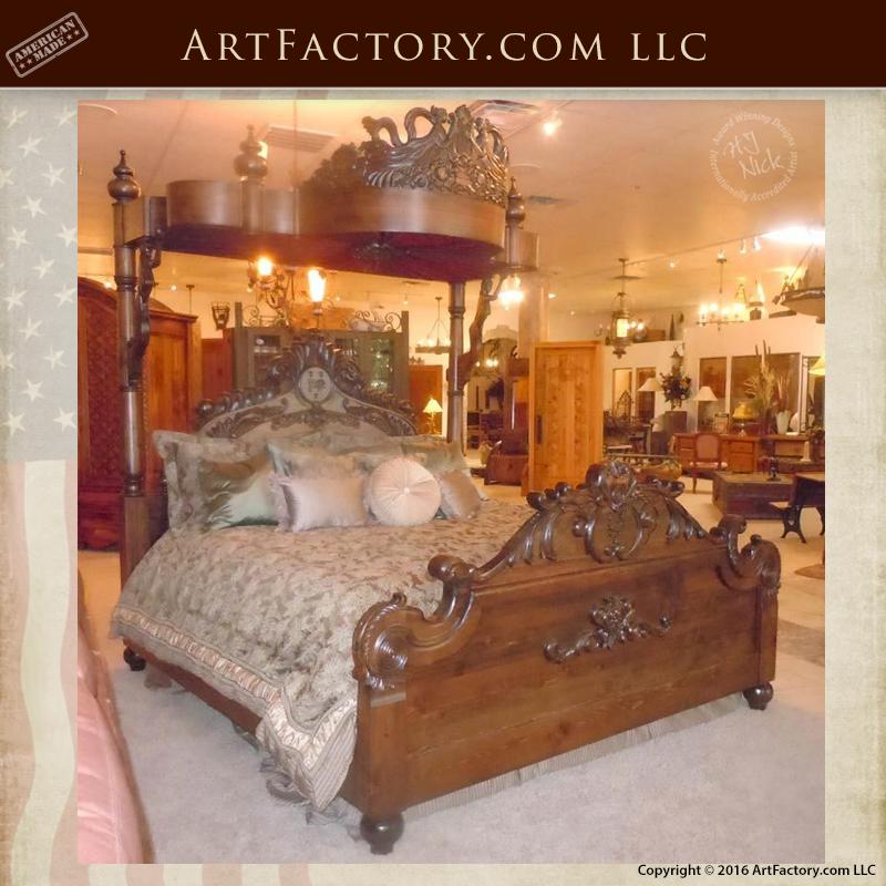 Hand Carved Tester Bed