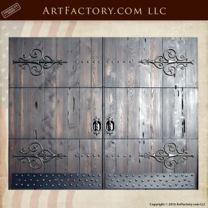 handmade wooden garage doors