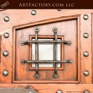custom security door grill