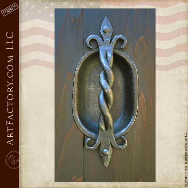 decorative hand forged door pulls