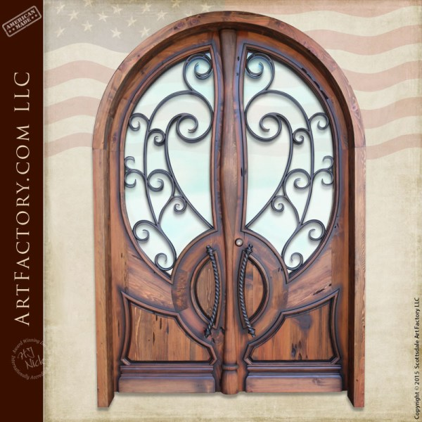 custom Art Nouveau double doors