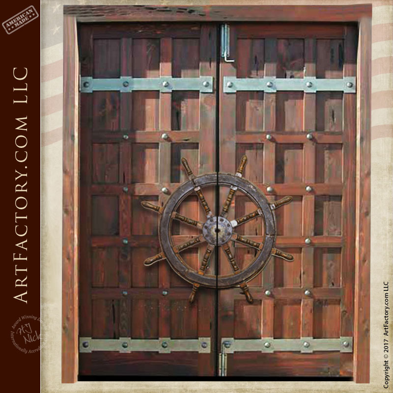 custom door pulls ship wheel custom door hardware scottsdale art