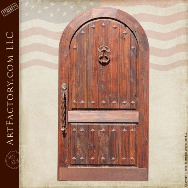 arched gothic style door
