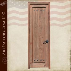 weathered raised grain wood door