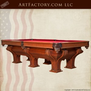 F.X. Gantner inspired custom pool table