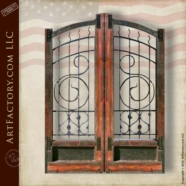 wood iron estate gate