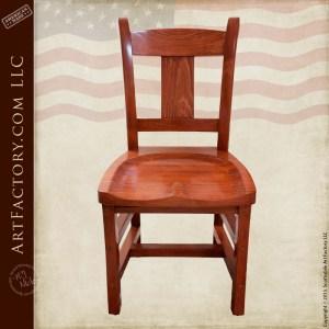 custom wood dining chair