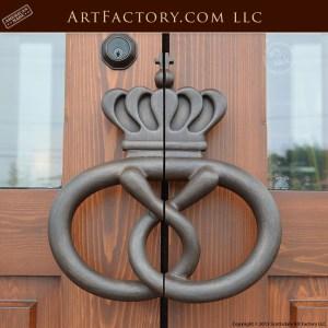 pretzel shaped door handles