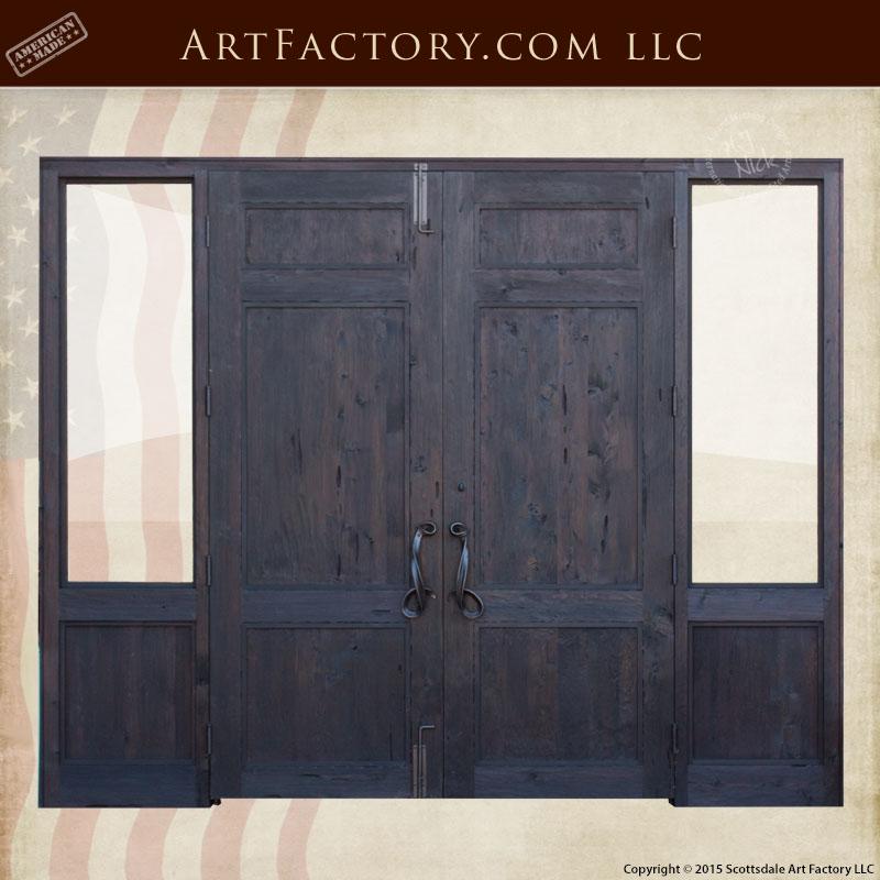 custom handmade wooden doors