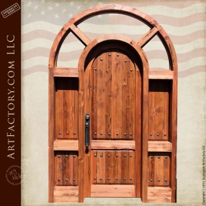 custom arched grand entrance door
