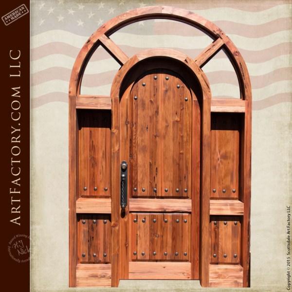 custom arched grand entrance door