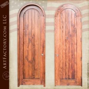 solid wood arched door