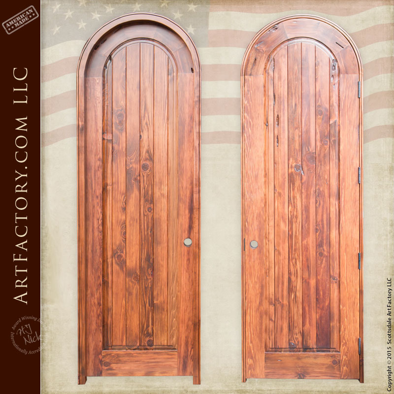 High Quality Exterior Doors Jefferson Door: Solid Wood Arched Door: Custom, Simple, High Quality Designs