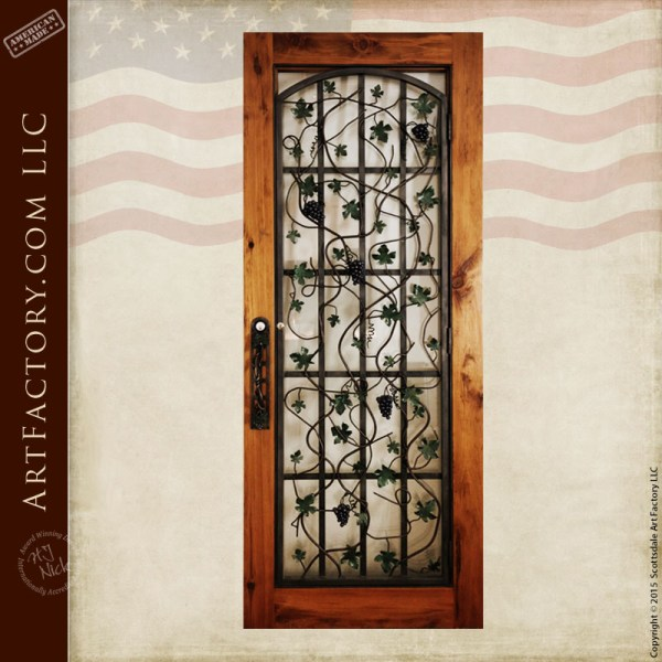 custom wine cellar entrance door