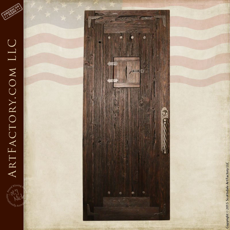 raised grain speakeasy door