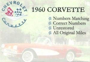 1960 Chevy Corvette original survivor classic Chevrolet Corvette