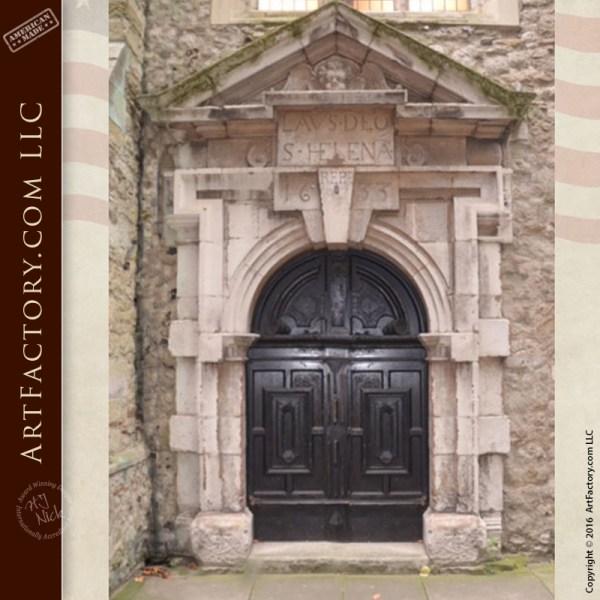 Hand Carved Church Door