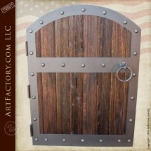 Wood Gates - Fortified Medieval Raised Grain Custom Castle