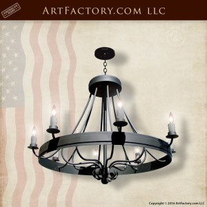 Antique French Design Iron Chandelier