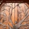 grand entrance door hand carved forest theme wood door