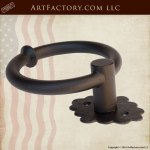 Classic Custom Door Ring Pull and Knocker - Hand Forged