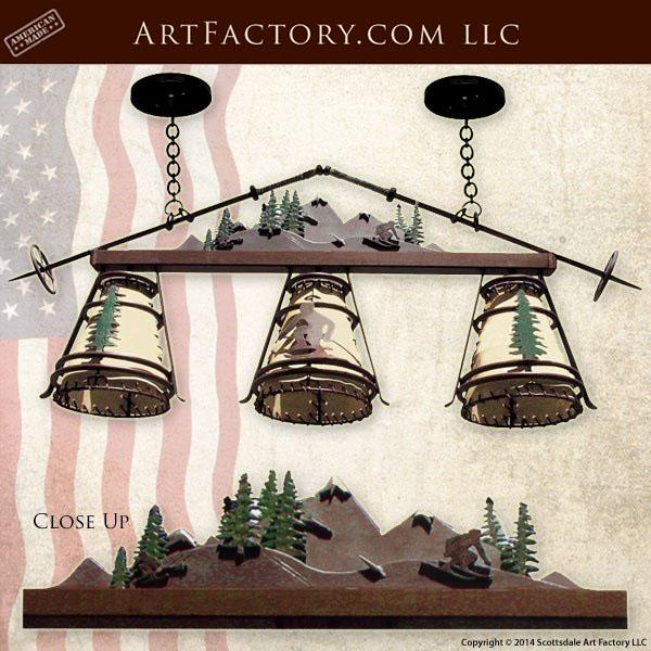 ski lodge theme chandelier