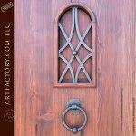 custom arched exterior door