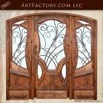modern art nouveau style door