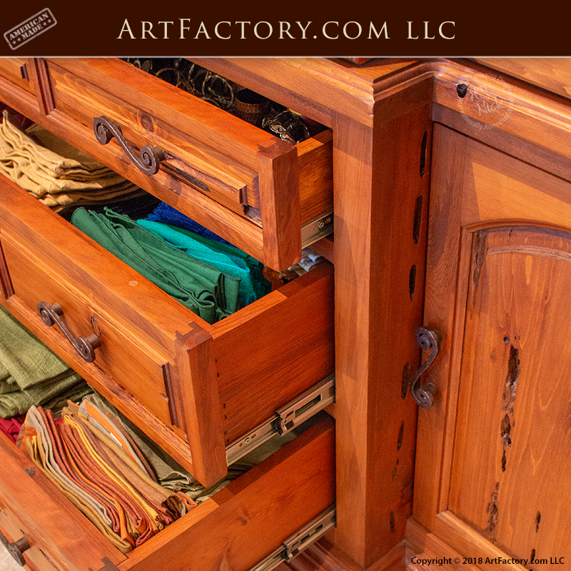 Custom Exotic Wood China Cabinet European Style Design