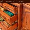 custom exotic wood china cabiniet