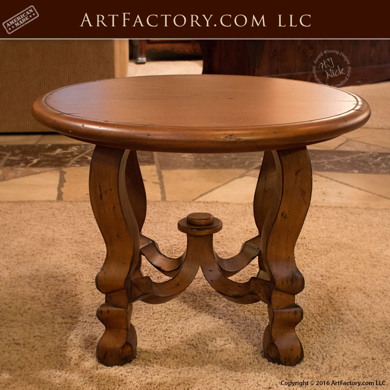 Four Legged Accent Table Historic Design Foyer Table