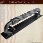 Twisted C-shape Wrought Iron Custom Door Pulls